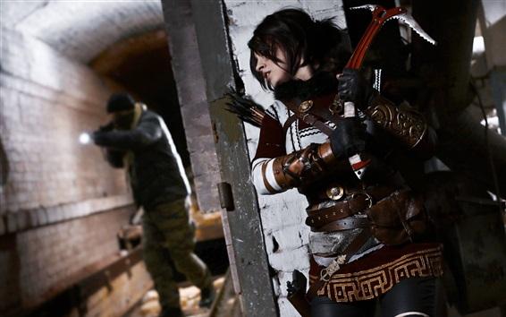 Wallpaper Tomb Raider, Lara Croft, cosplay girl, classic games
