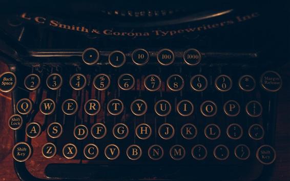 Fond d'écran Machine à écrire, lettres et chiffres