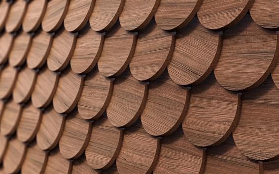 Fond d'écran Cercles en bois