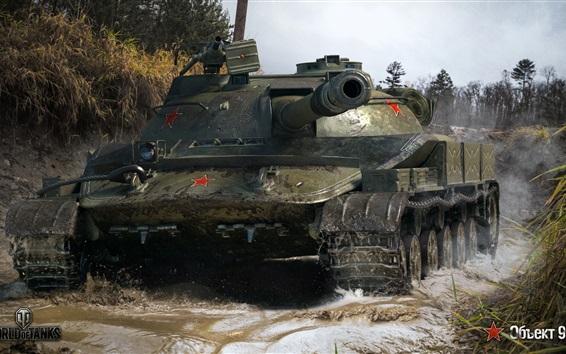 Wallpaper World of Tanks, water, grass, WOT