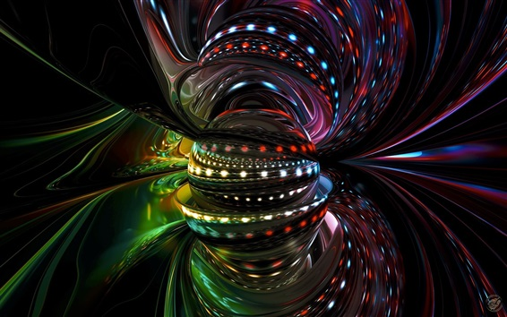 Fond d'écran Design 3D, abstrait, balle, courbes