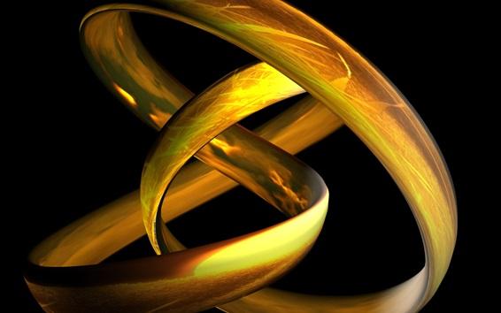 Wallpaper 3D gold woven lines
