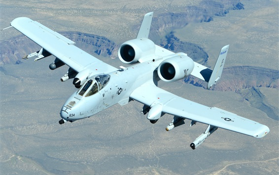 Wallpaper A-10 Thunderbolt II attack fighter