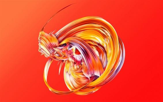 Papéis de Parede Figura abstrata, fundo vermelho