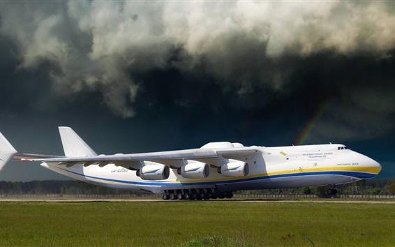 Hintergrundbilder Antonov An-225 Flugzeug am Flughafen