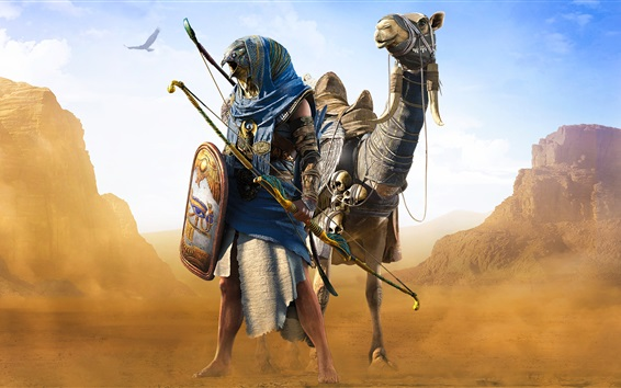 Wallpaper Assassin's Creed: Origins, Ubisoft, desert