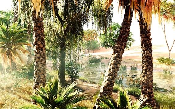 Wallpaper Assassin's Creed, Ubisoft, trees, river