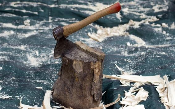 Hintergrundbilder Axt, Holz