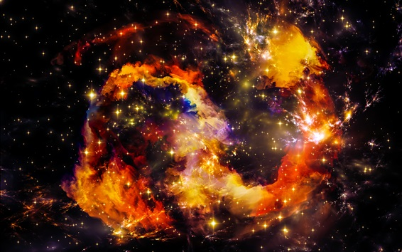 Wallpaper Beautiful space, universe, stars, shine