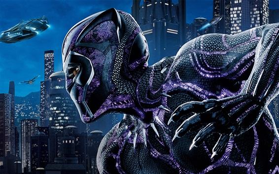Wallpaper Black Panther, Chadwick Boseman, Marvel movie 2018