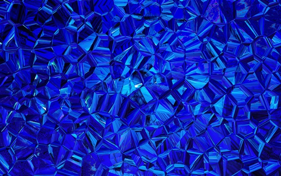 Wallpaper Blue prismatic, abstract picture