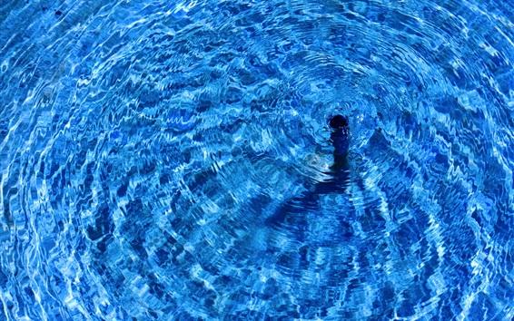 Papéis de Parede Água azul, círculos de onda