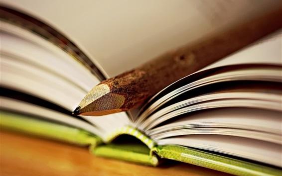 Wallpaper Book and pencil
