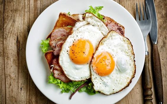 Wallpaper Breakfast, eggs, meat