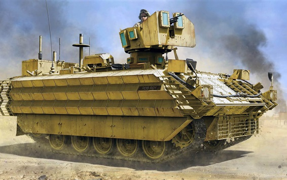 Wallpaper British armored personnel carrier