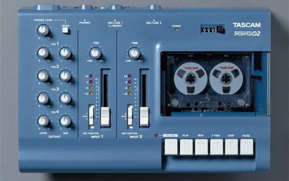 Hintergrundbilder Kassettenrekorder, Mehrkanalaufnahme