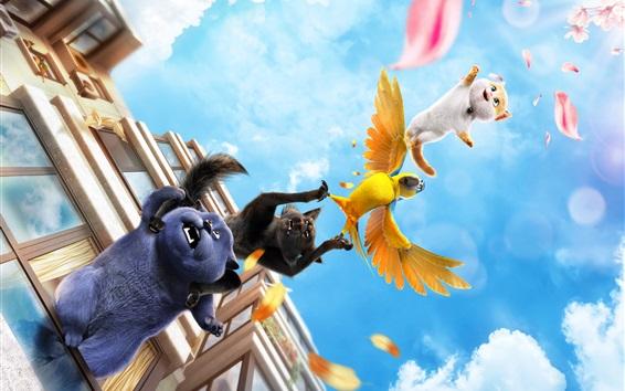 Wallpaper Cats and Peachtopia, 2018 cartoon movie