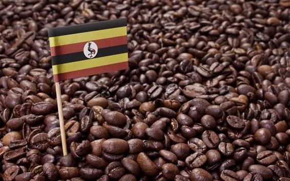 Fond d'écran Grains de café, drapeau