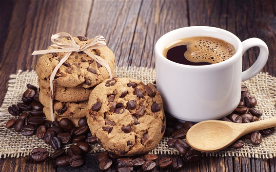 Wallpaper Cookies and coffee, cup