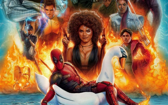 Wallpaper Deadpool 2, 2018 movie