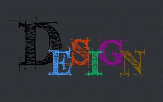 배경 화면 디자인, 다채로운 단어