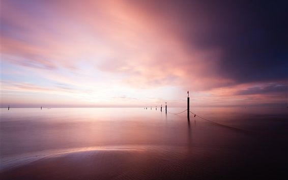 Wallpaper East Frisian, Lower Saxony, Germany, North sea, sunset