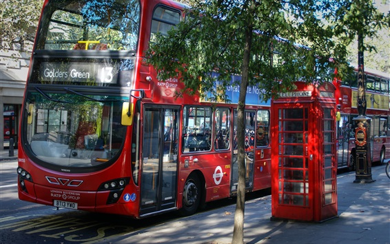 Wallpaper England, London, bus, street