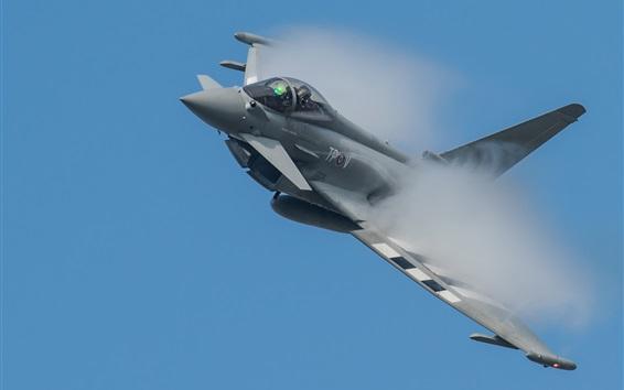 Papéis de Parede Eurofighter Typhoon lutador multiuso, fumaça