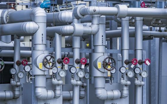 Wallpaper Factory, pipe, valves, pressure gauges