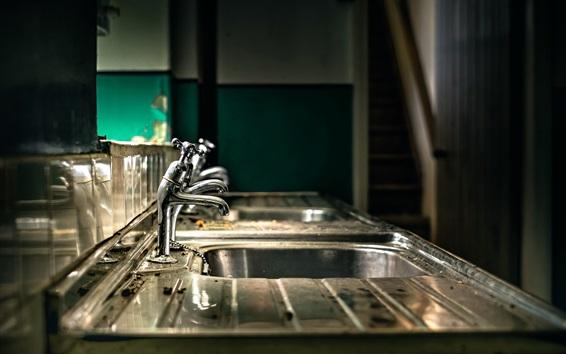Wallpaper Faucets, sink, metal