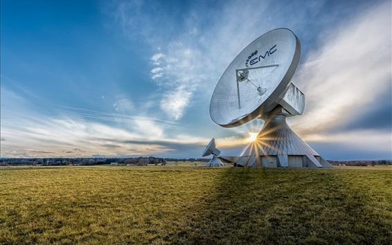 Wallpaper Germany, Bavaria, antenna, grass, sky, clouds, sunrise