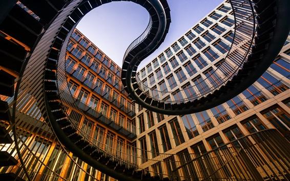 Wallpaper Germany, Munich, ladder, architecture