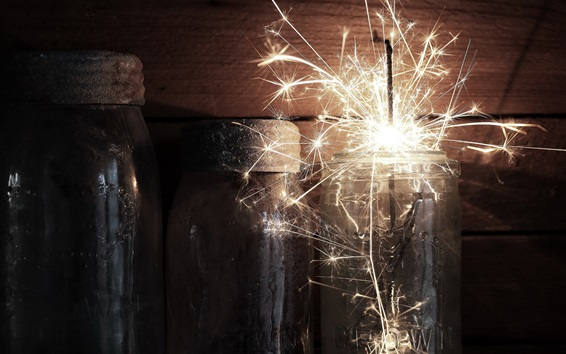 Wallpaper Glass cup, sparks, holiday