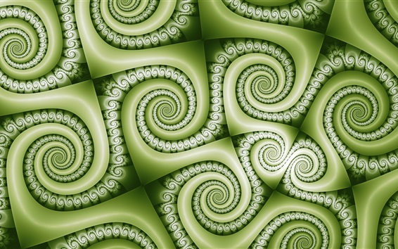 Wallpaper Green curls texture background, abstract