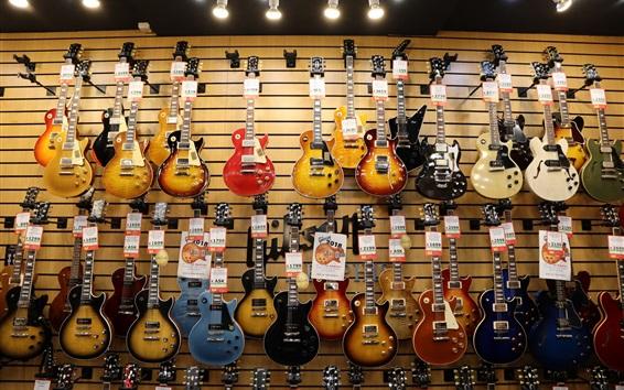 Wallpaper Guitar shop