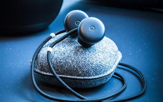 Wallpaper Headphones, cables
