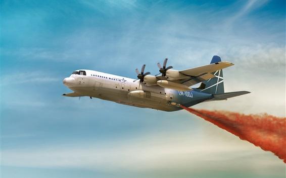 Papéis de Parede Avião de transporte militar Hercules LM-100J