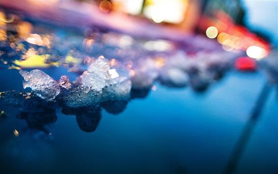 Fond d'écran Glace, neige, eau, éblouissement