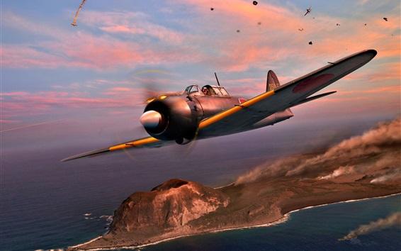 Wallpaper Japan, plane, Navy