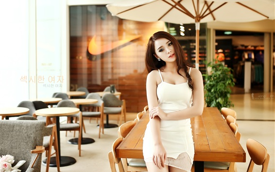 Papéis de Parede Garota da Coréia, café