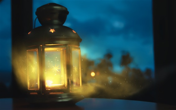 Wallpaper Lantern, light, night, glare