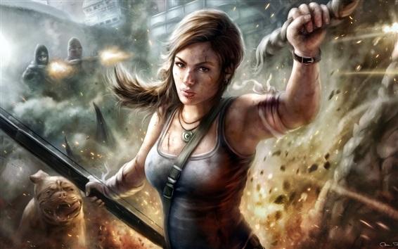 Wallpaper Lara Croft, Tomb Raider, video game