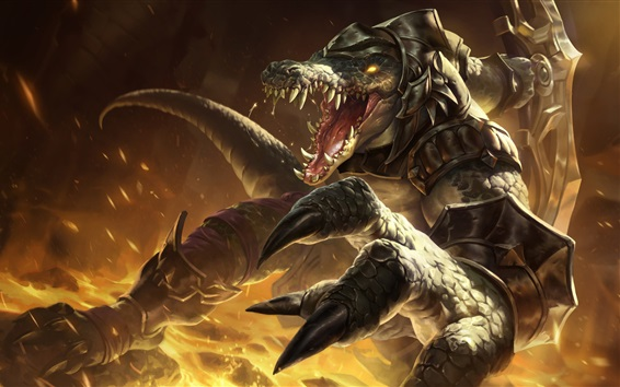 Wallpaper League of Legends, monster, teeth, art picture
