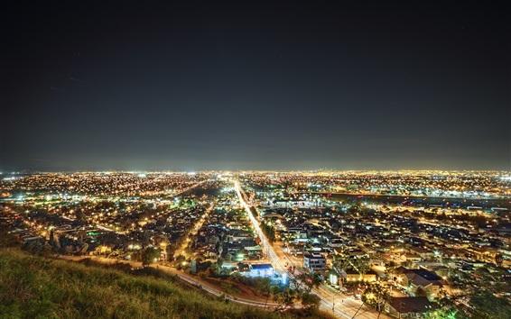 壁紙 ロサンゼルス、カリフォルニア州、夜景、アメリカ