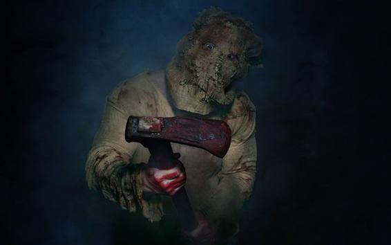Wallpaper Maniac, mask, axe, blood