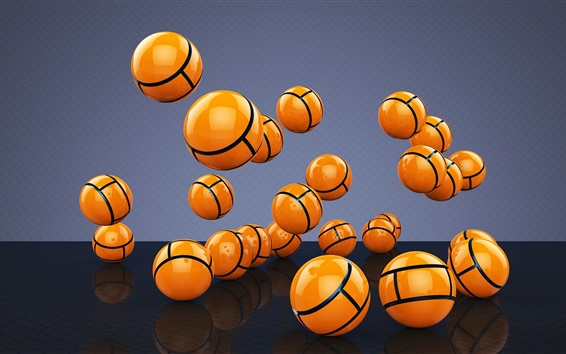Wallpaper Many 3D yellow balls