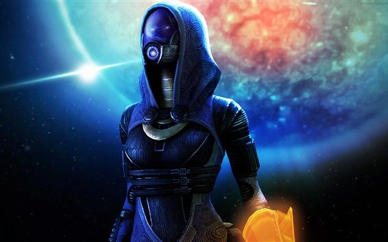 Fondos de pantalla Mass Effect, extraterrestre, máscara