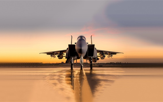 Wallpaper McDonnell Douglas F-15SA fighter front view