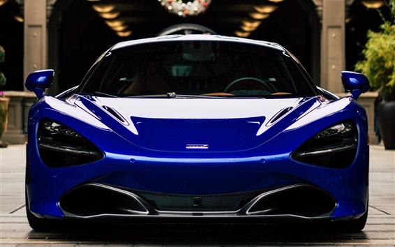 Wallpaper McLaren blue supercar front view