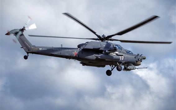 Wallpaper Mi-28N helicopter flight